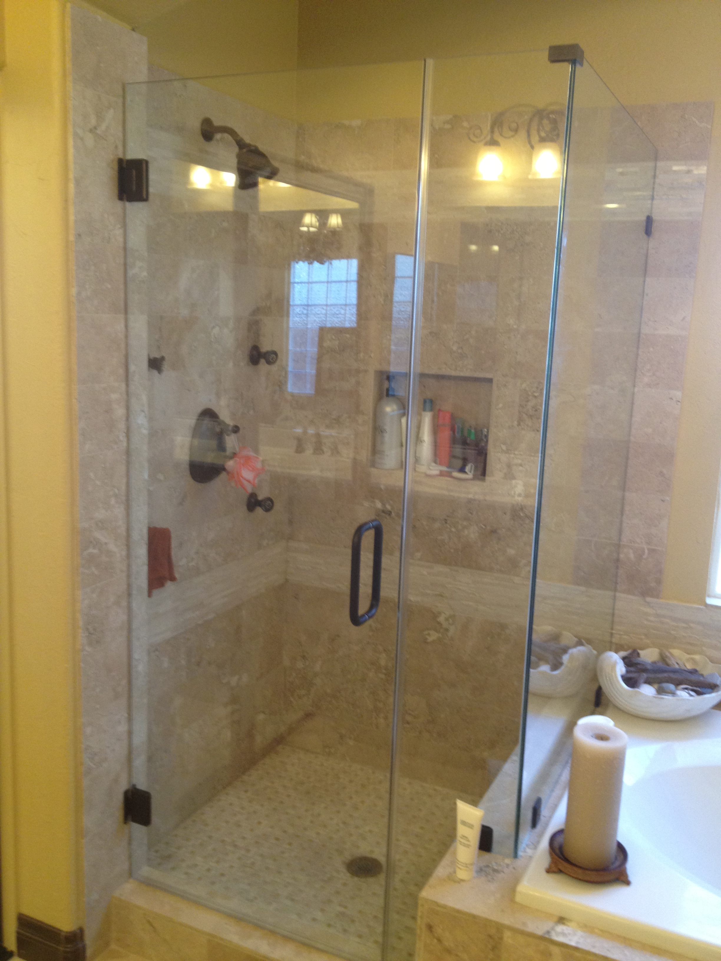 with alcove basco doors silver in shower semi clear frameless x door glass p sliding classic