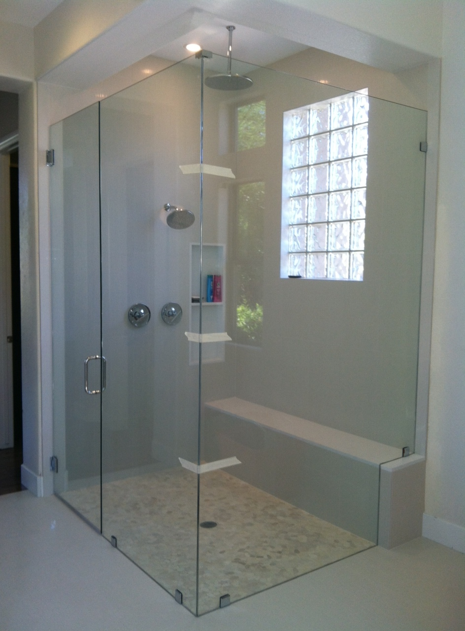Frameless Shower Door With Chrome Hardware Kerabath Blog