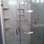 "3/8"" clear glass, Frameless shower enclosure"
